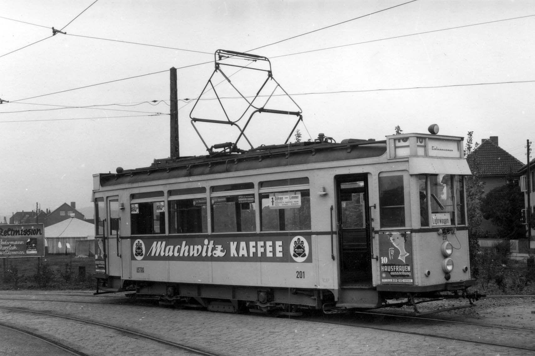 Ein Hannoverscher Stahlwagen mit der für diese Zeit typischen Machwitz-Werbeaufschrift